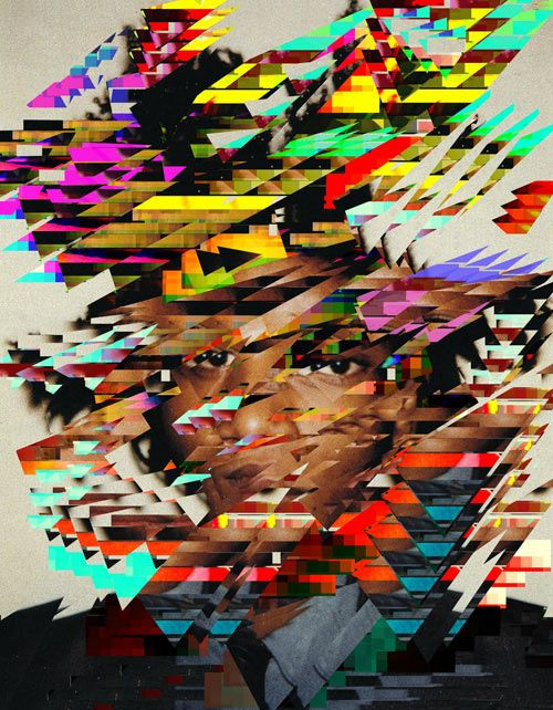 UK-based artist Jack Addis is what I'd call a digital portraitist. From what I can tell he takes portraits and digitally distorts them with layers of all kinds of colors and geometric shapes. The pieces are full of chaos and energetic patterns that are somewhat hypnotic – like trippy futuristic paintings.