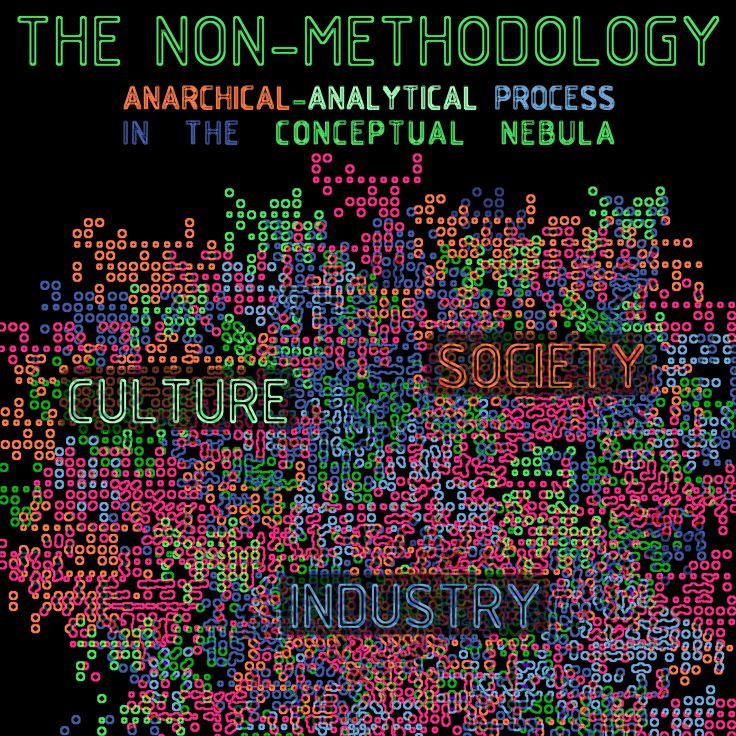 THE NON-METHODOLOGY is an anarchical-analytical process in the conceptual nebula based on analyzing the three core elements found in every project: culture, industry and society. > blog: http://www.experimenta.es/blog/non-methodology-4721