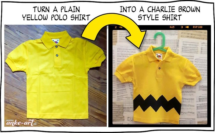 Tutorial: Polo Shirt in Charlie Brown's Look – anke-art