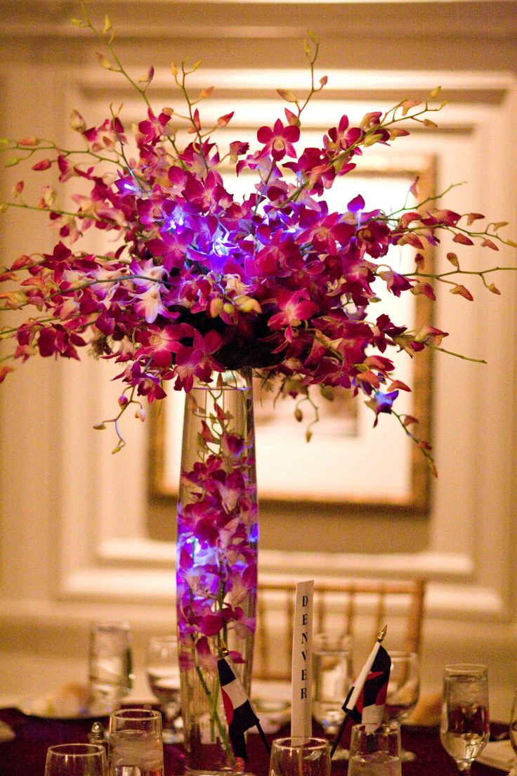 Best hot pink and purple wedding centerpieces images on