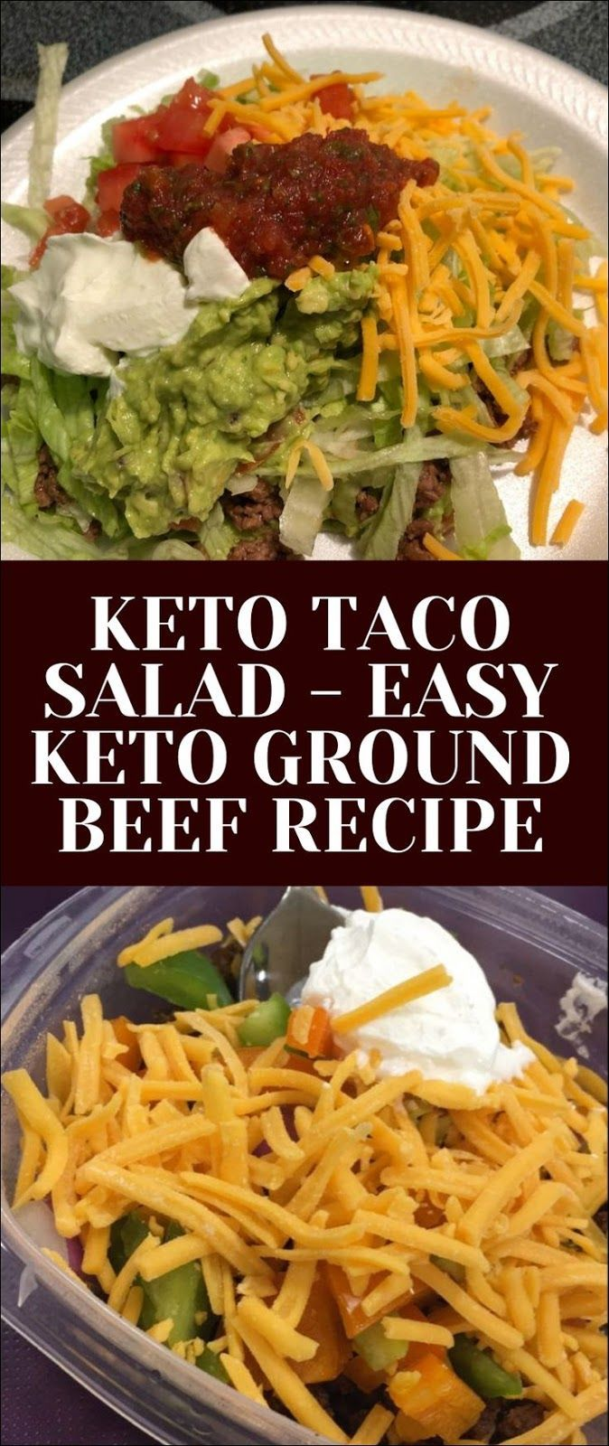 Keto Taco Salad Easy Keto Ground Beef Recipe Keto Taco Salad Ground Beef Paleo Recipes Ground Beef Recipes