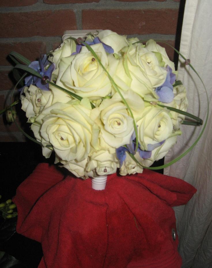 Bloemstuk voor de bruid...