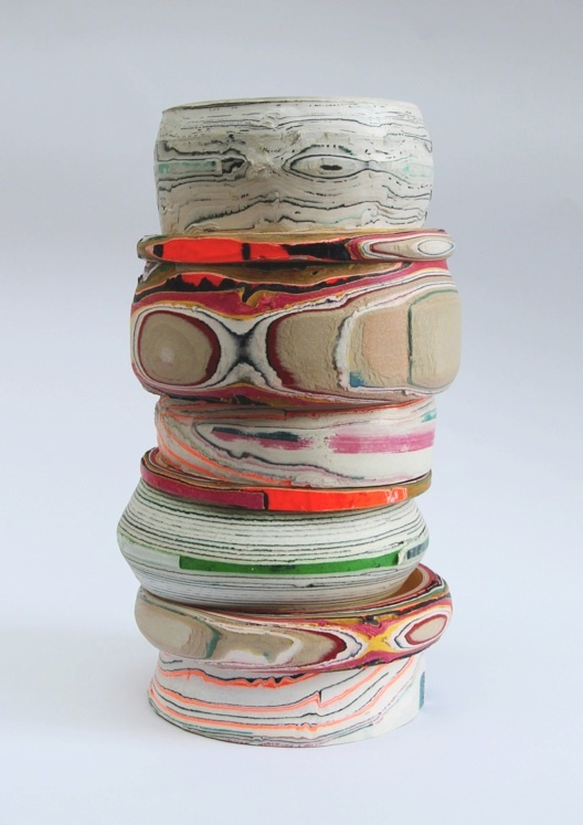 PP Vessel- processed paper. watch the video of using a wood turner to carve the vessel. so cool!
