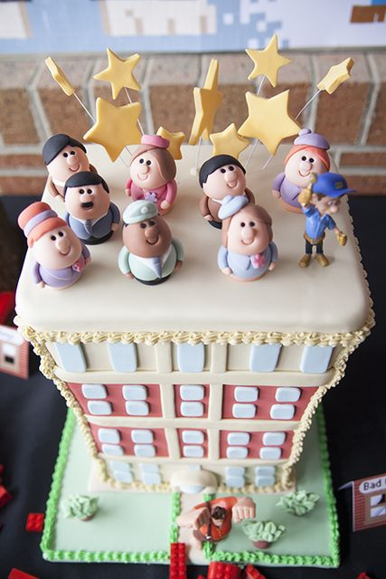 Incredible cake from a Wreck It Ralph Birthday Party!  See more party ideas at CatchMyParty.com!