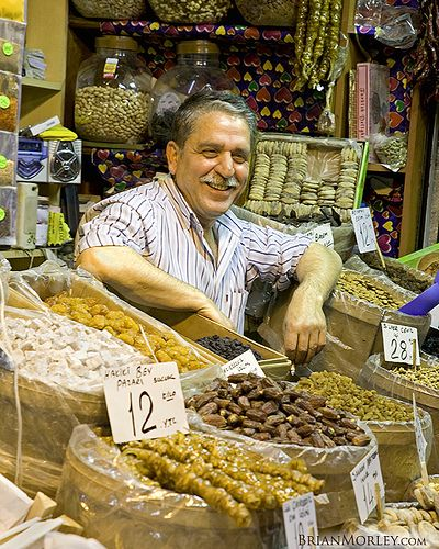 One of Many Friendly Faces at the Spice Market, Istanbul, Turkey
