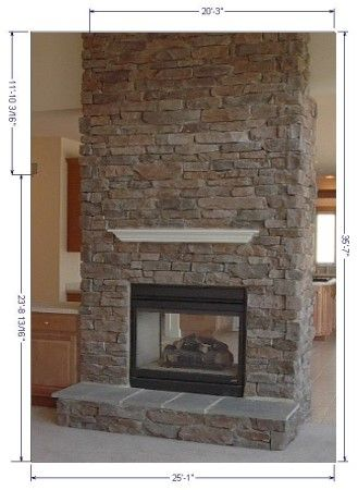 kitchens with rock fireplaces | Stone Fireplace Facings