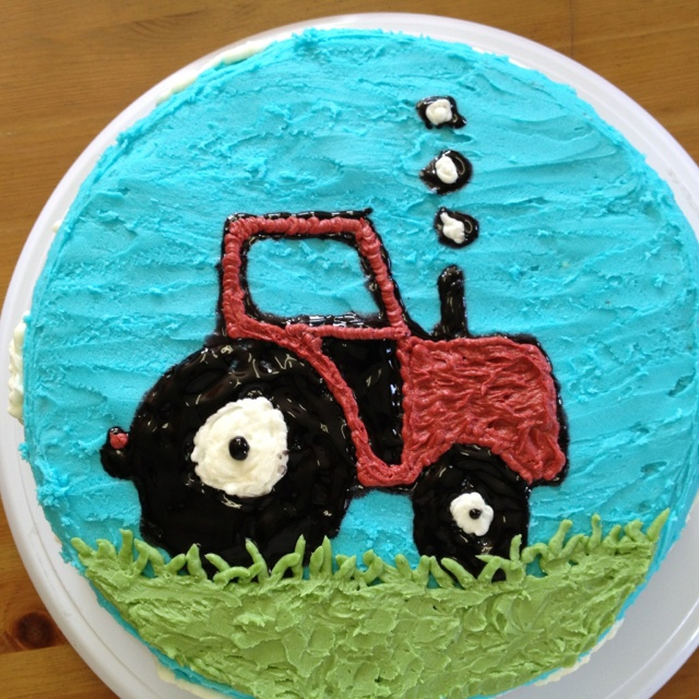 blue tractor wedding cake topper tractor cake birthday cakes colors 12009
