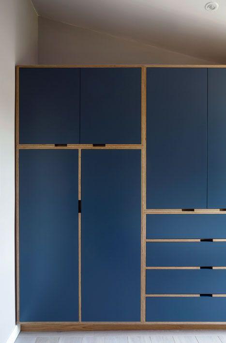 Bedroom Wardrobe Birch Ply Blue