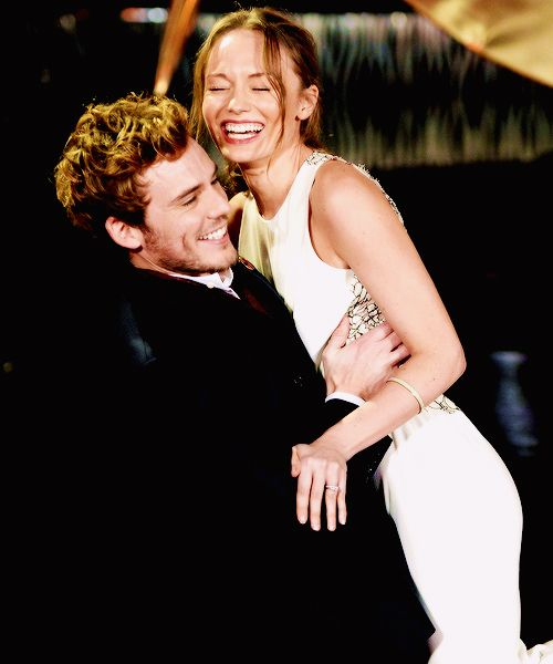 Sam Claflin and his wife Laura Haddock