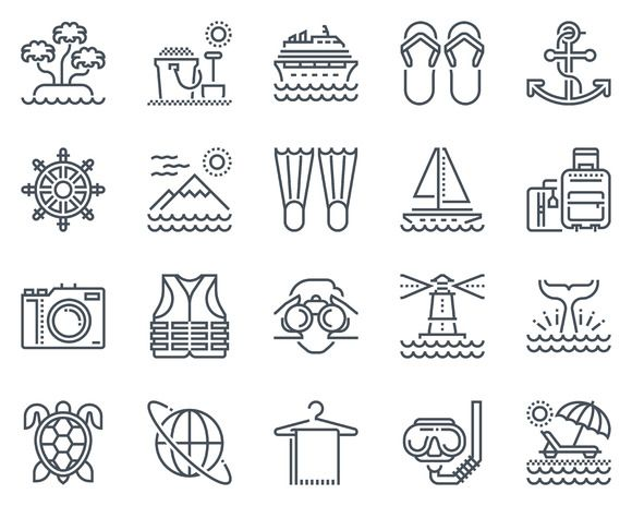 Holiday, beach icon set - Icons