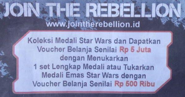 tukarkan medali karakter star wars di alfamart untuk mendapatkan voucher belanja gratis senilai 5 juta