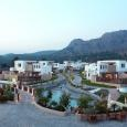 the hotel is built like a greek village, directly on the beach | South Rhodes
