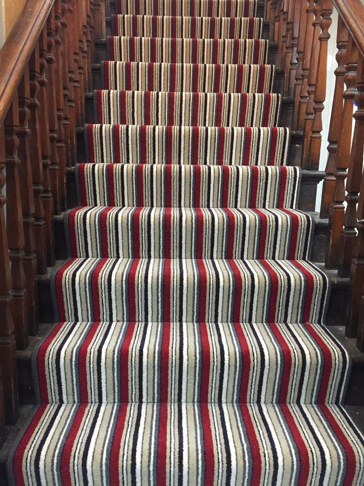 Beauty all around. Make your stairs look majestic with a coloured stripe Kingsmead carpet.