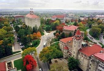 One of the most beautiful campus' ever...University of Kansas.  Mount Oread.
