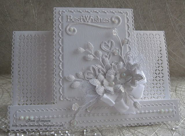 White on White Birthday Card. Tattered Lace.