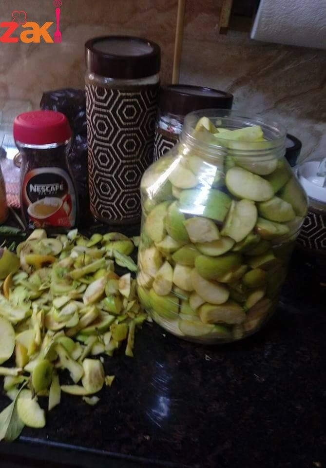 كيف يصنع خل التفاح الطبيعي في البيت زاكي Cooking Food Pickles