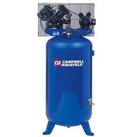 Campbell Hausfeld TQ3104 5-HP 80-Gallon 4-Cylinder Dual-Voltage Single-Stage Air Compressor at Air Compressors Direct includes free shipping, a factory-direct discount and a tax-free guarantee.