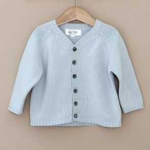 Light Blue Baby Cardigan with v-neck