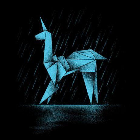 Blade Runner: Origami unicorn t-shirt.