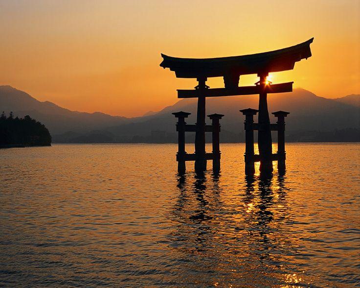 """Floating Torii"" of Miyajima."