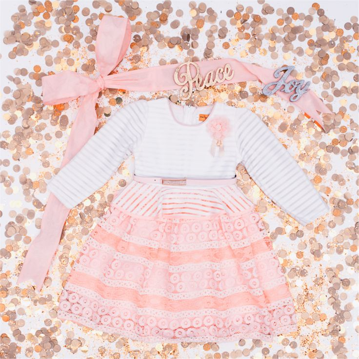 Peach cute chic dress   #fashionable #blush #trendy #cute #children #kids #adorable #fashion #clothes #dress #pink #girl #wow #special #holidays #wedding #canada