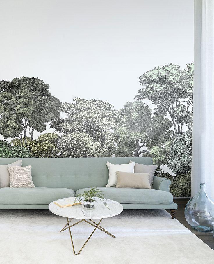 Entzuckend Kleines Schlafzimmer Einrichten Gestaltung Dekoration | Die Besten 25 Wald Tapete Ideen Auf Pinterest Wald Wandmalerei