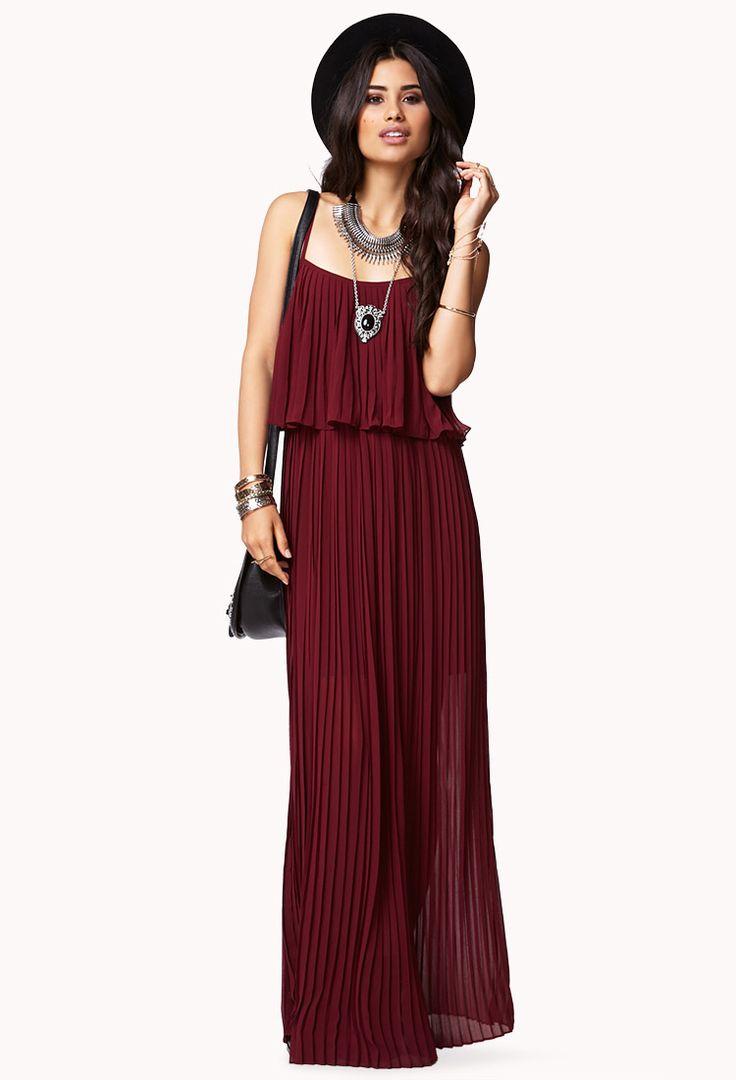 Burgundy Waterfall Maxi Dress #forever21 | Fashion ... - photo #25