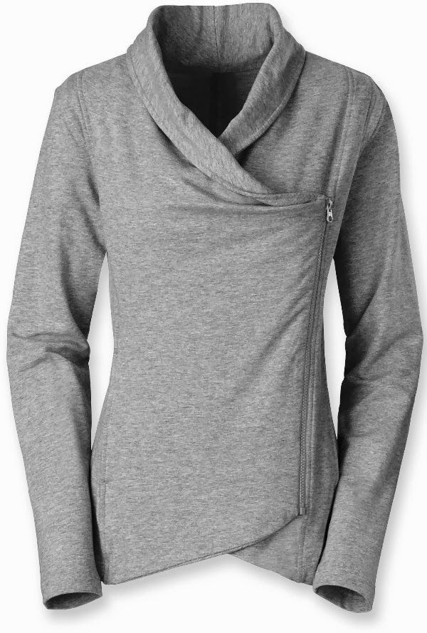 North Face Sharlet Wrap Grey Sweater Fashion