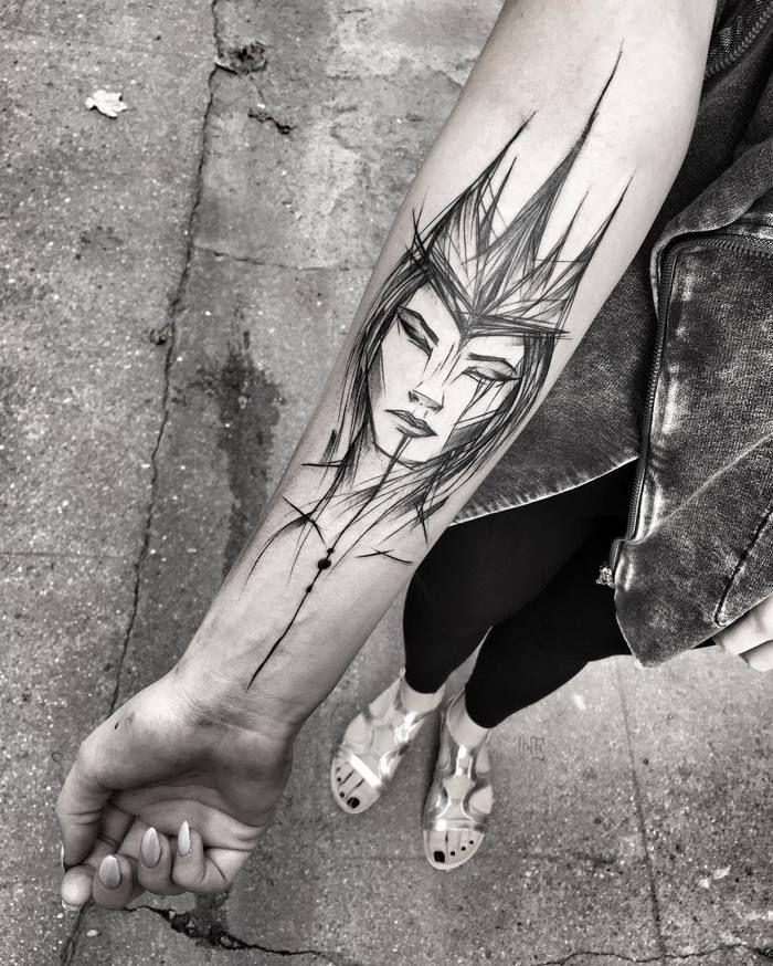 Blackwork Tattoo by Inez Janiak
