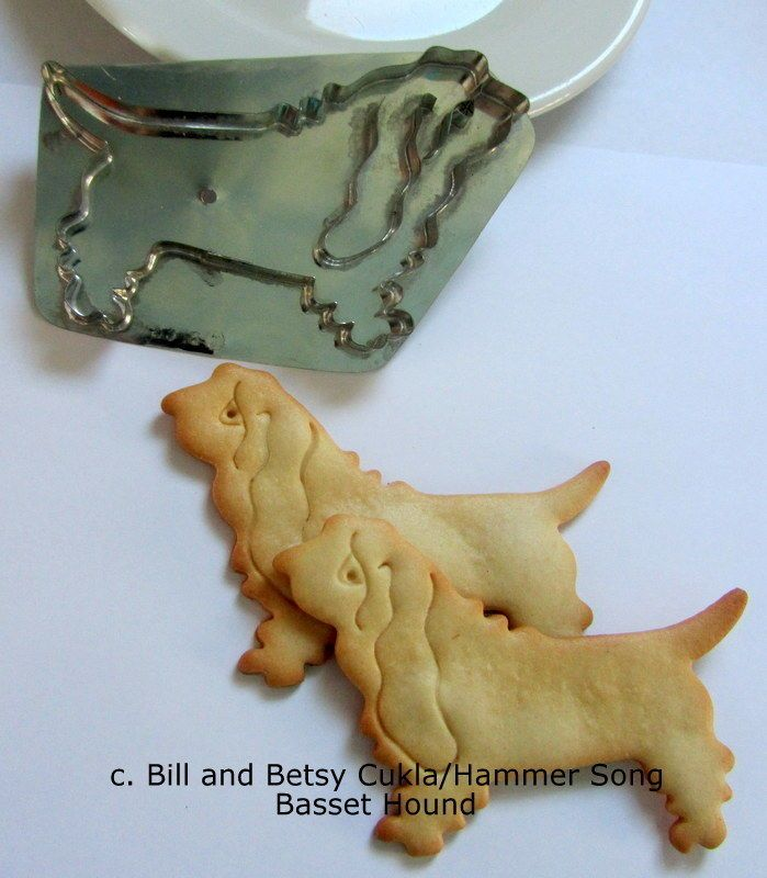 HAMMER SONG/B.CUKLA BASSETT HOUND DOG COOKIE CUTTER/NEW DESIGN/LIMITED RUN