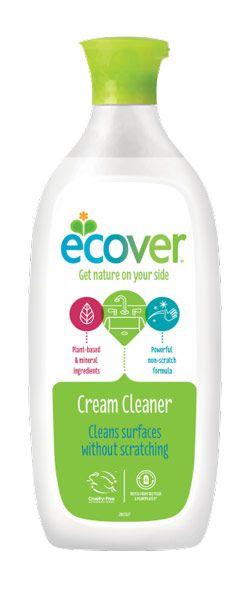 ECOVER folyékony súrolószer - új csomagolás. A természet erejével segít megszabadulni a makacs kosztól és szagtól. Öko, környezetbarát termék.