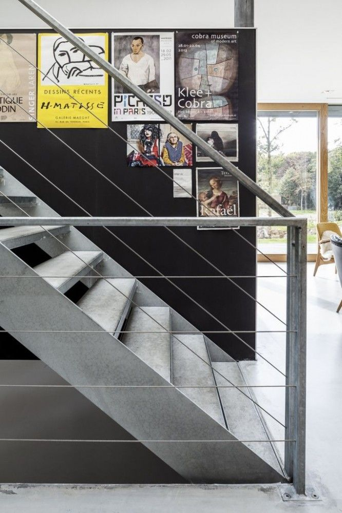 stair detail Villa V / Paul de Ruiter Architects
