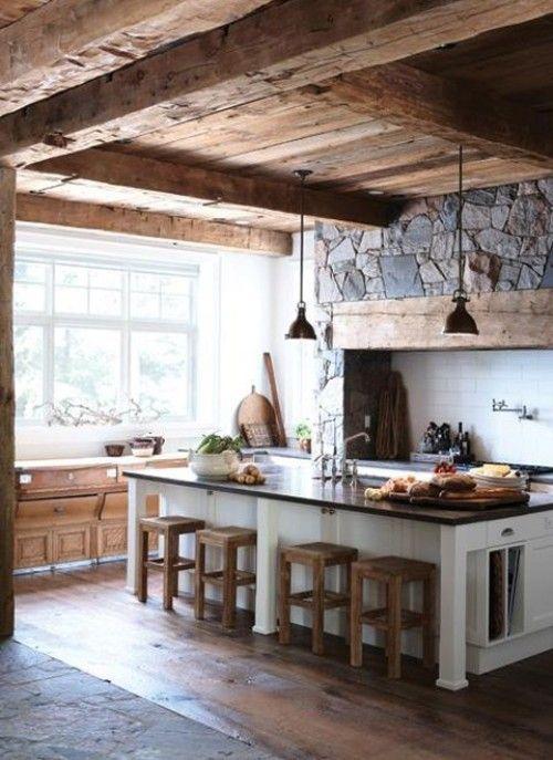 Rustic Kitchen // Client Inspiration  @Lisa Phillips-Barton Palmer
