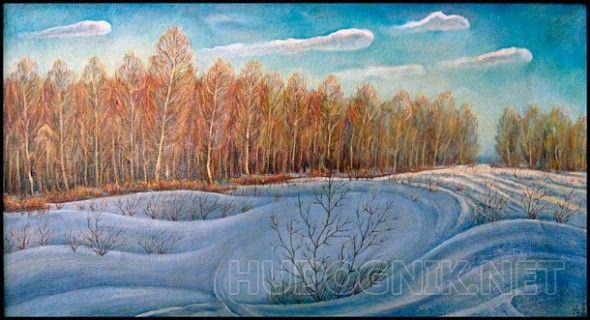 Зимний луч Зимний закат, последний луч...