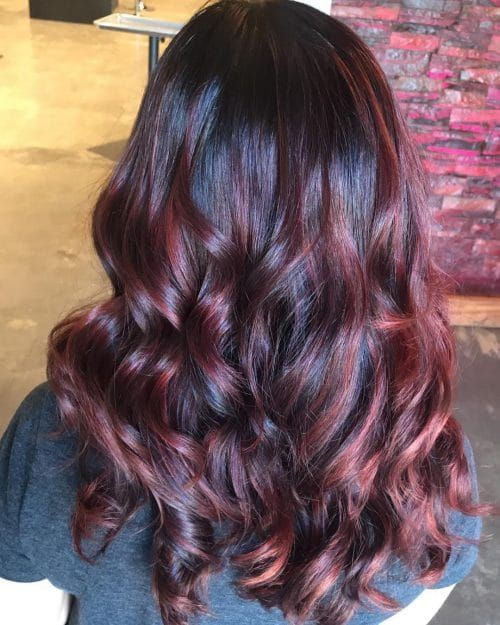 37 Best Red Highlights in 2019 for Brown, Blonde & Black Hair