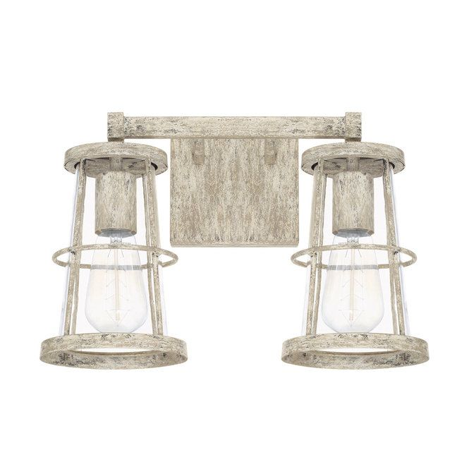 Coastal Cottage Vanity Light 2 Light With Images Capital
