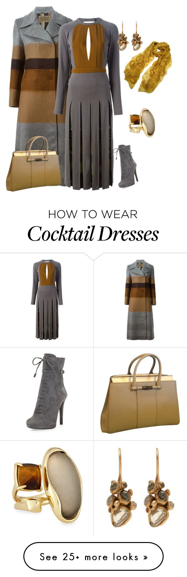"""outfit 2595"" by natalyag on Polyvore featuring Alexis Bittar, Etro, Gucci, Ruth Tomlinson, Prada and Sujuu"
