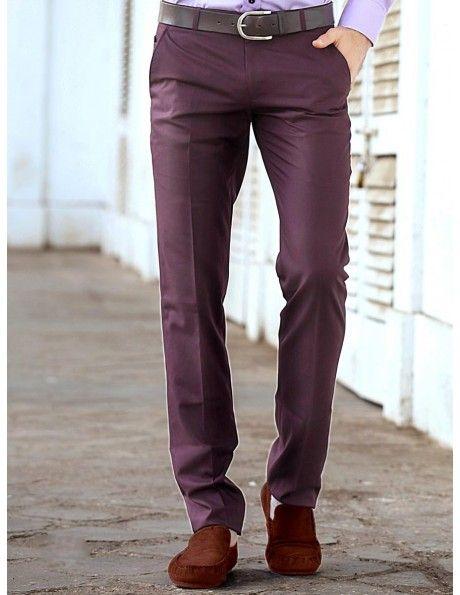 Buy Dusty Purple Slim Fit Trouser Online. http://www.bharatplaza.com/mens-wear/trousers.html