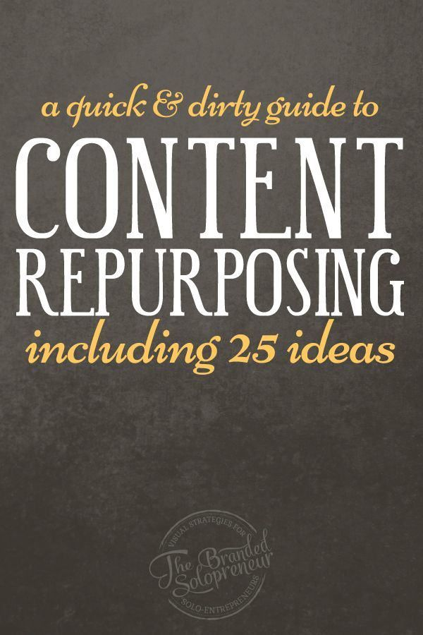 The Quick & Dirty Guide to Content Repurposing