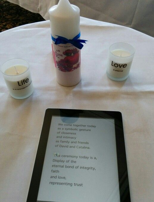 Candle Ceremony  .... Contact me for marriage celebrant services, Australia...