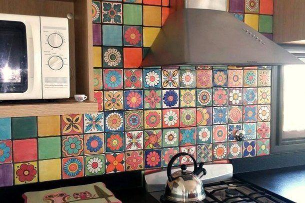 Azulejos artesanales elaborados y decorados a mano un - Azulejos vintage cocina ...