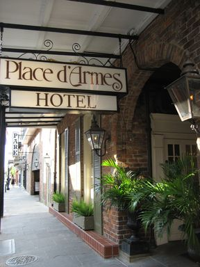 Place D'Armes Hotel, One of our favorite places to stay in NOLA, and supposedly one of the most haunted.