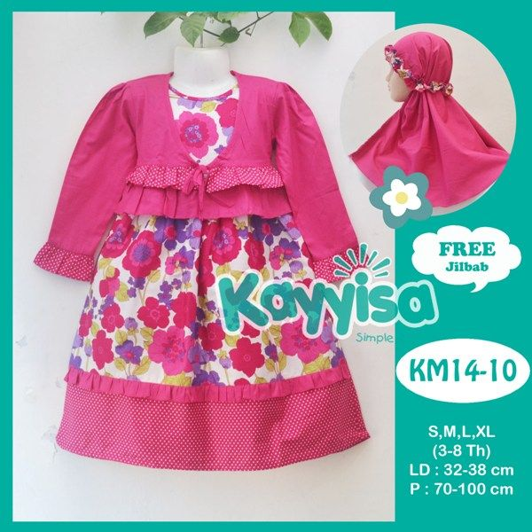 17 best images about fashion idea kids moslem hijab on Agen baju gamis katun jepang