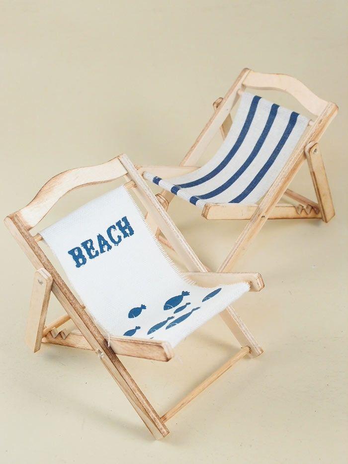 Sdraio Da Spiaggia Legno.Decorazione Marina Piccolo Sdraio Da Spiaggia Decorativo In Legno