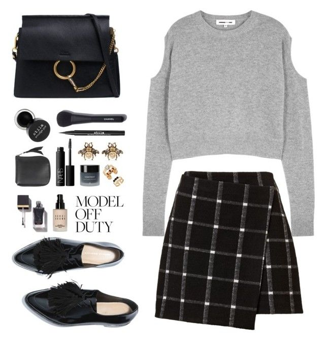 Model Off Duty by lilymadelyn on Polyvore featuring polyvore, fashion, style, McQ by Alexander McQueen, Chloé, Acne Studios, Gucci, Chanel, Bobbi Brown Cosmetics, Stila, Context, NARS Cosmetics and clothing