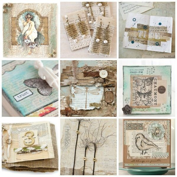 """[On the Blog] 7 """"Novel"""" Ways to Use Old Books in Your Artwork"""
