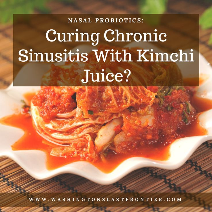 Nasal probiotics curing chronic sinusitis with kimchi