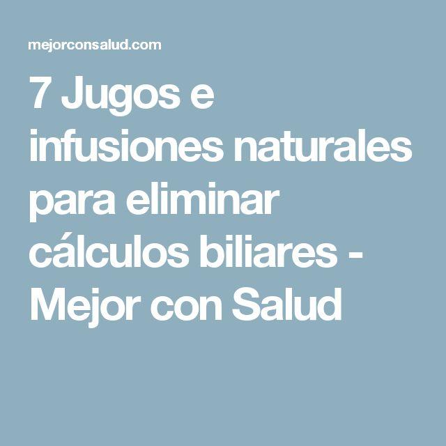 7 Jugos e infusiones naturales para eliminar cálculos biliares - Mejor con Salud