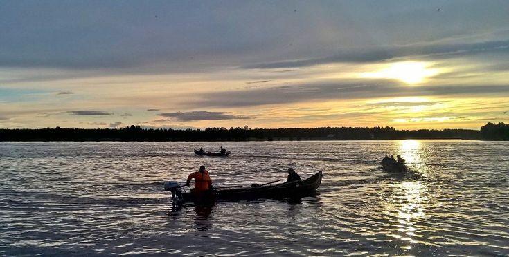 Salmon Fishing on River Tornionjoki in Midnight Sun 26.-29.6.