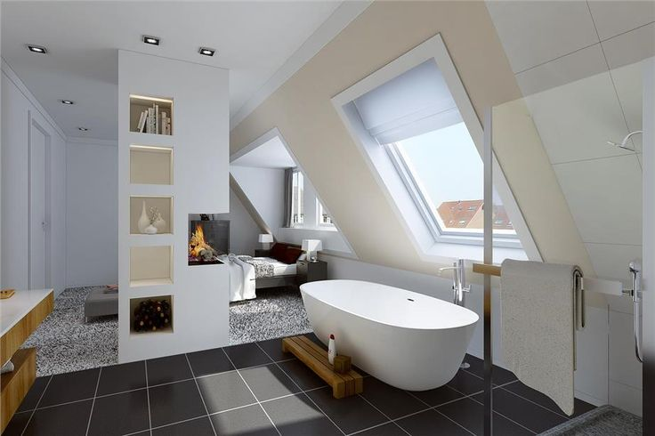 34 best Badkamer in slaapkamer images on Pinterest | Bathroom, Attic ...